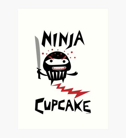 Ninja Cupcake - 2 Art Print