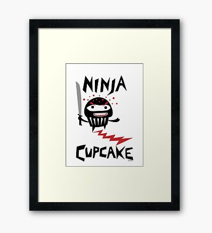 Ninja Cupcake - 2 Framed Print