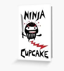 Ninja Cupcake - 2 Greeting Card