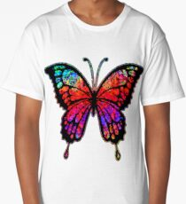Psychedelic Butterfly Long T-Shirt