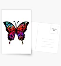 Psychedelic Butterfly Postcards