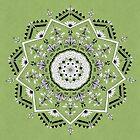 Star Mandala Green by Bianca Green