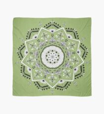 Star Mandala Green Scarf