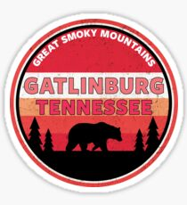 Pegatina GATLINBURG TENNESSEE GREAT SMOKY MOUNTAINS NATIONAL PARK SMOKIES BEAR 2