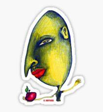 Man with Apple Sticker