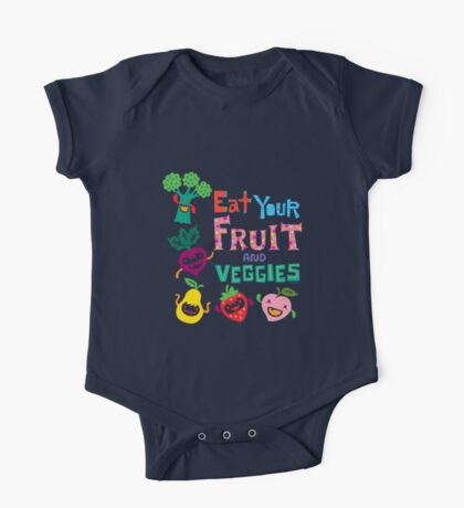 Eat your Fruit and Veggies - beige Kids Clothes