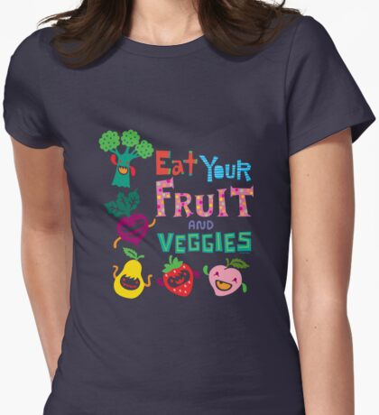 Eat your Fruit and Veggies - beige T-Shirt