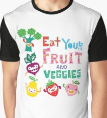 Eat your Fruit and Veggies - beige Graphic T-Shirt