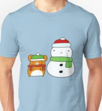 Hamster and Snowman  Unisex T-Shirt
