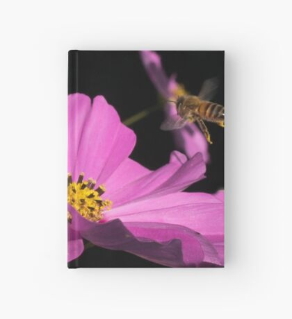 Bee coming into land  Hardcover Journal