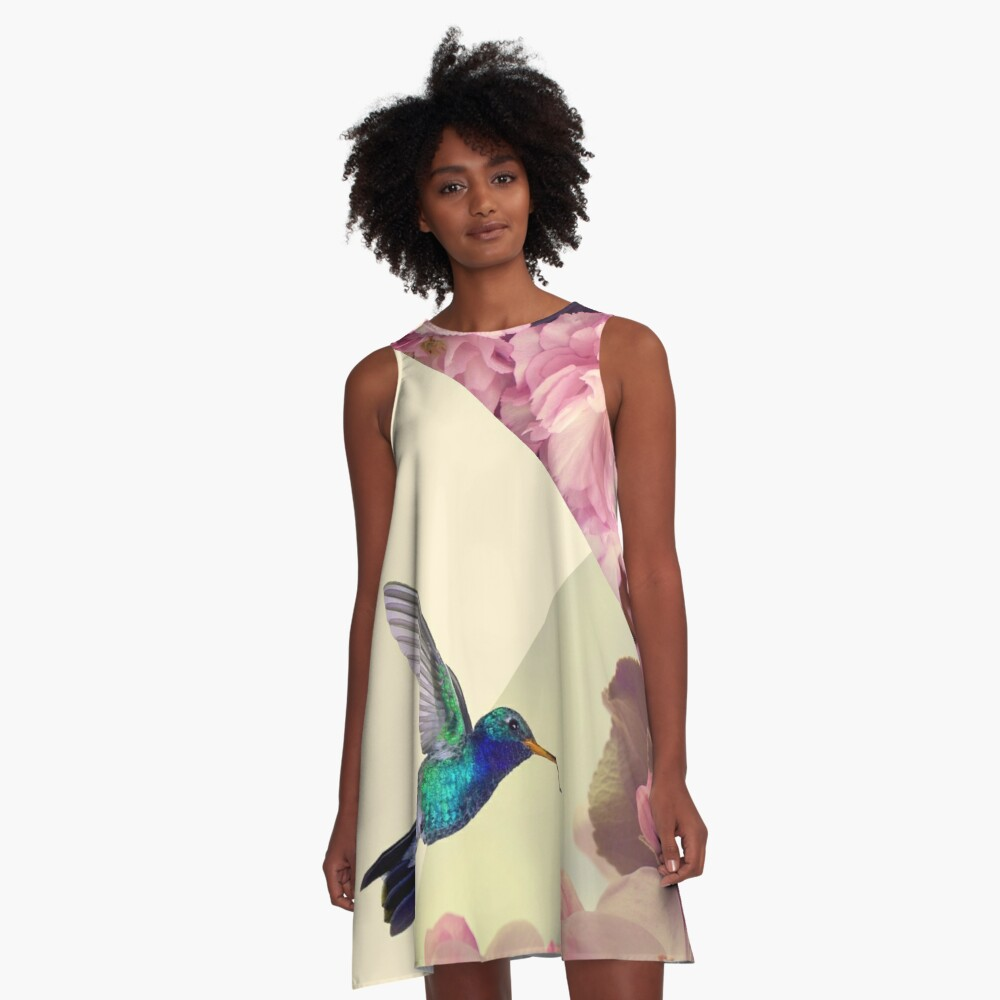 Hummingbird in love A-Line Dress Front