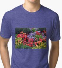 Flowers, Anchorage, Alaska, USA Tri-blend T-Shirt