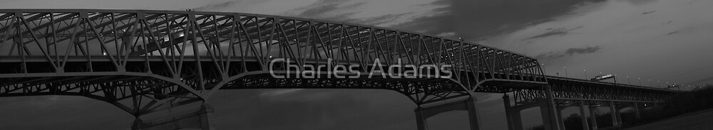 Over the Delaware (b&w version) by Charles Adams