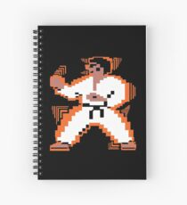 Moving Karate Kid Design Spiral Notebook