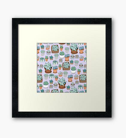 Succulent Love Framed Print