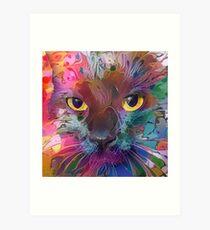 Abstract Catnip (Electric Catnip) Art Print