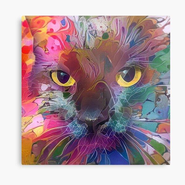 Abstract Catnip (Electric Catnip) Metal Print