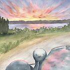 Utsalady Point Sunrise- Camano Island by Diane Hall