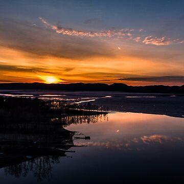 Sunset over Lake Sacandaga 2 by 631photo