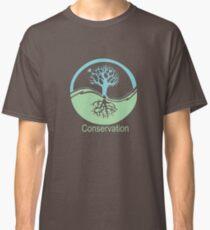 Conservation Tree Symbol aqua green Classic T-Shirt