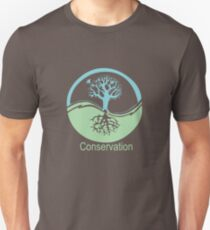 Conservation Tree Symbol aqua green Unisex T-Shirt
