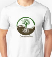 Conservation Tree Symbol brown green T-Shirt