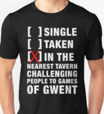 In The Tavern Playing Gwent (The Witcher) (White) Unisex T-Shirt