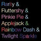 Rarity & Fluttershy & Pinkie Pie & Applejack & Rainbow Dash & Twilight Sparkle by suranyami