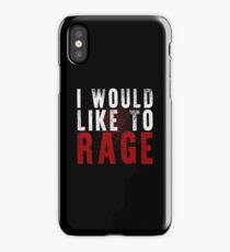 I WOULD LIKE TO RAGE!!! (White)  iPhone Case