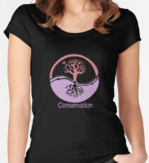 Conservation Tree Symbol Pink and Purple Women's Fitted Scoop T-Shirt