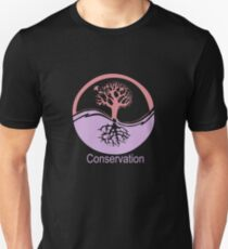 Conservation Tree Symbol Pink and Purple T-Shirt