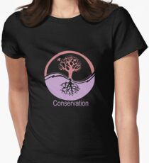Conservation Tree Symbol Pink and Purple Womens Fitted T-Shirt