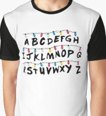 Stranger Things - Alphabet Wall Graphic T-Shirt