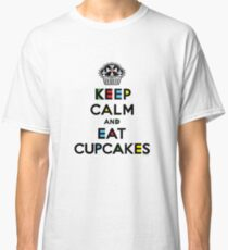 Keep Calm and Eat Cupcakes - mondrian  Classic T-Shirt
