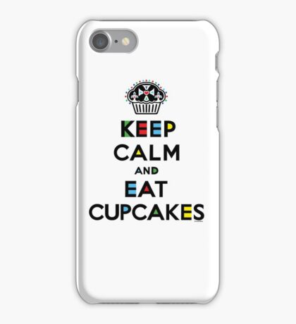 Keep Calm and Eat Cupcakes - mondrian  iPhone Case/Skin