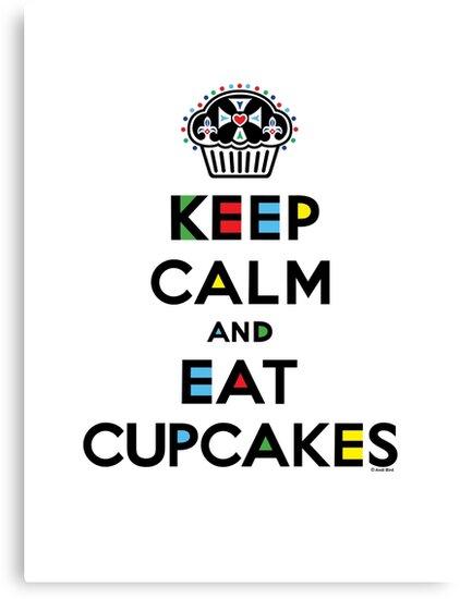 Keep Calm and Eat Cupcakes - mondrian  by Andi Bird