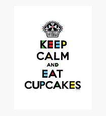Keep Calm and Eat Cupcakes - mondrian  Photographic Print