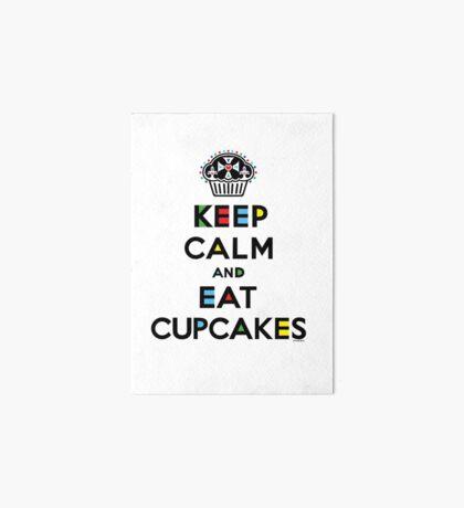 Keep Calm and Eat Cupcakes - mondrian  Art Board