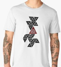 Flattened D20 - Dungeons and Dragons - Critical Role Fan Design Men's Premium T-Shirt