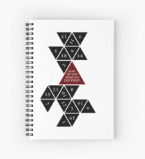 Flattened D20 - Dungeons and Dragons - Critical Role Fan Design Spiral Notebook