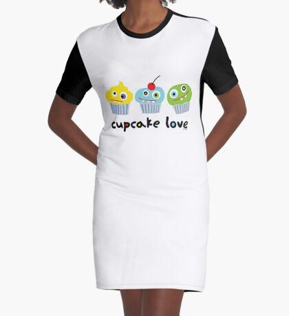 Cupcake Love - beige Graphic T-Shirt Dress