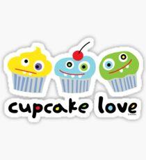 Cupcake Love - beige Sticker