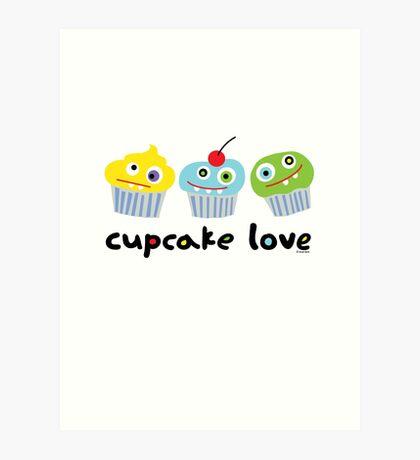 Cupcake Love - beige Art Print