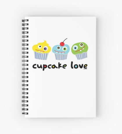 Cupcake Love - beige Spiral Notebook