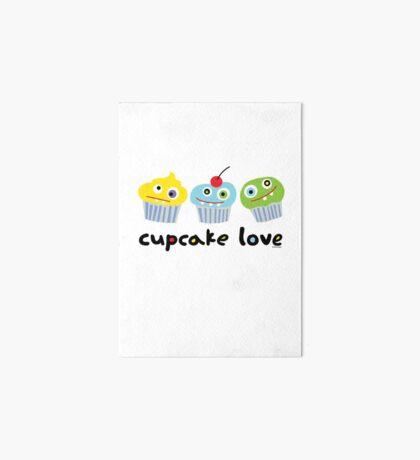 Cupcake Love - beige Art Board