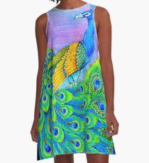 Paisley Peacock - Pastels A-Line Dress