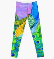 Paisley Peacock - Pastels Leggings