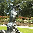 Pan and his Flute_Fountain_Veale Gardens_Adelaide_South Australia_Australia by Kay Cunningham