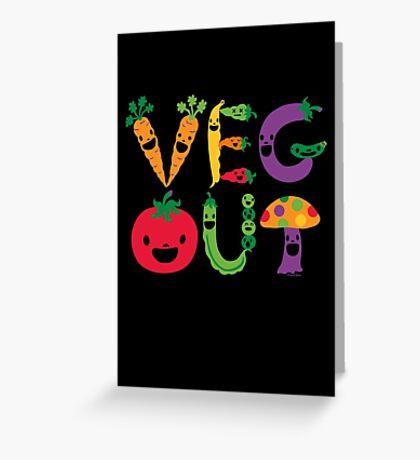 Veg Out dark Greeting Card