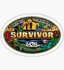 Pegatina Logotipo de superviviente